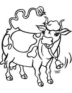 Корова картинки раскраски (4)