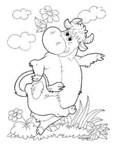 Корова картинки раскраски (6)