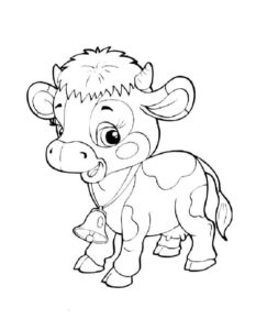 Корова картинки раскраски (9)