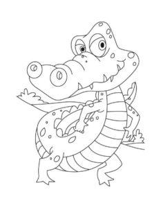 Крокодил картинки раскраски (7)