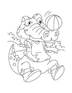 Крокодил картинки раскраски (8)