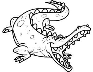 Крокодил картинки раскраски (9)