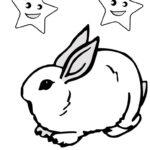 Кролик картинки раскраски (12)