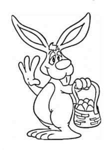 Кролик картинки раскраски (17)