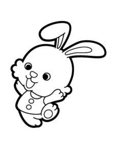 Кролик картинки раскраски (27)