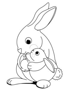 Кролик картинки раскраски (6)