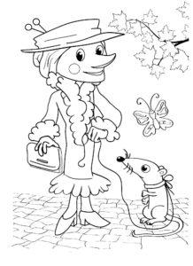 Крыса картинки раскраски (17)