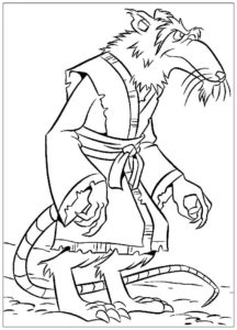 Крыса картинки раскраски (45)