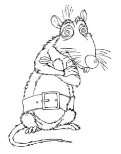 Крыса картинки раскраски (7)