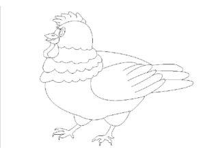 Курица картинки раскраски (13)