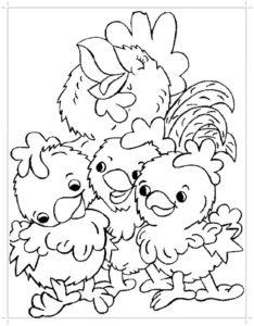 Курица картинки раскраски (32)
