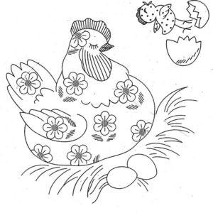 Курица картинки раскраски (38)