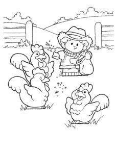 Курица картинки раскраски (50)