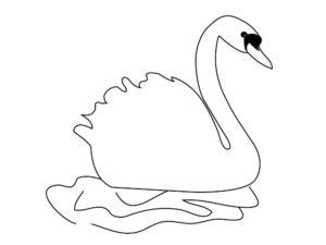 Лебедь картинки раскраски (17)