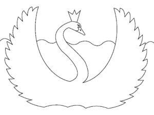Лебедь картинки раскраски (21)