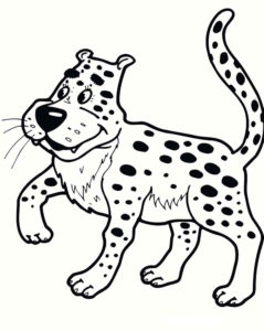 Леопард картинки раскраски (12)