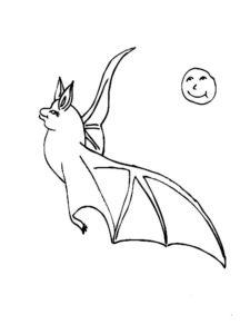 Летучая мышь картинки раскраски (1)