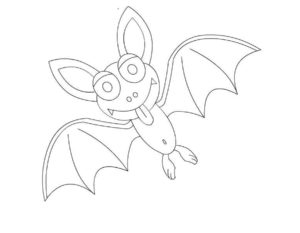 Летучая мышь картинки раскраски (13)