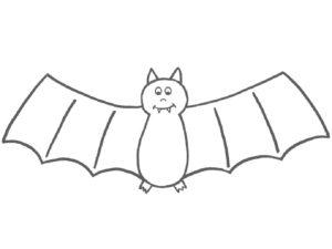 Летучая мышь картинки раскраски (3)