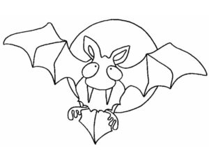 Летучая мышь картинки раскраски (8)
