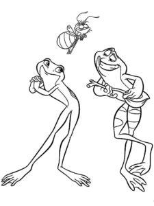 Лягушка картинки раскраски (13)