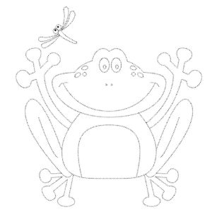 Лягушка картинки раскраски (25)