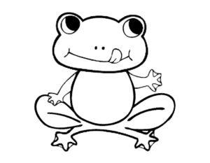 Лягушка картинки раскраски (49)