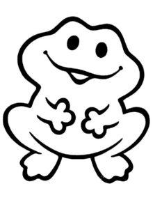 Лягушка картинки раскраски (55)