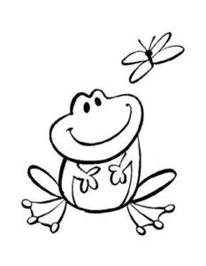 Лягушка картинки раскраски (56)