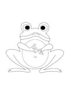 Лягушка картинки раскраски (59)