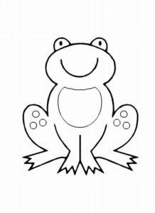 Лягушка картинки раскраски (60)