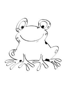 Лягушка картинки раскраски (64)