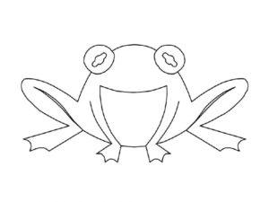 Лягушка картинки раскраски (66)