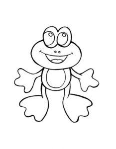 Лягушка картинки раскраски (69)