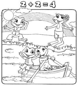 Лягушка картинки раскраски (73)