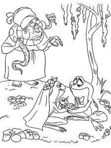 Лягушка картинки раскраски (75)