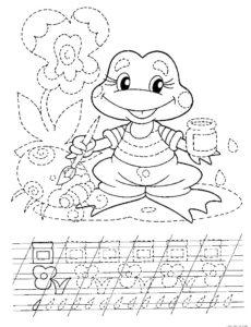 Лягушка картинки раскраски (76)