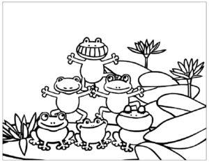 Лягушка картинки раскраски (79)
