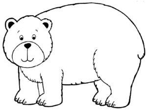 Медведи и мишки картинки раскраски (19)