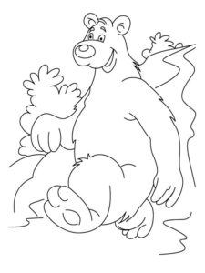 Медведи и мишки картинки раскраски (22)