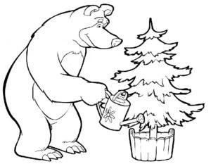 Медведи и мишки картинки раскраски (4)