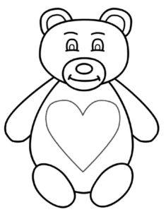Медведи и мишки картинки раскраски (8)