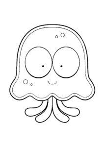 Медуза картинки раскраски (21)