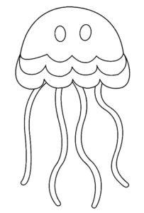Медуза картинки раскраски (6)