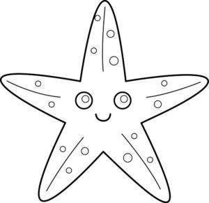 Морская звезда картинки раскраски (18)