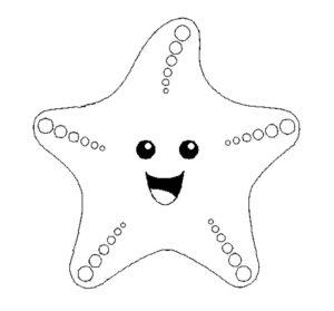 Морская звезда картинки раскраски (2)