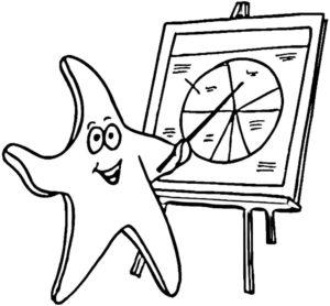 Морская звезда картинки раскраски (23)