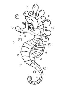 Морской конек картинки раскраски (31)