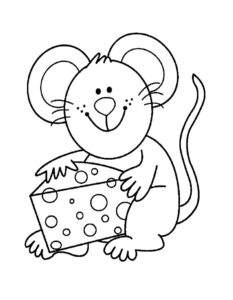 Мышонок картинки раскраски (1)
