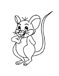 Мышонок картинки раскраски (10)